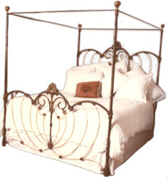 antique iron bed canopy conversion - Iron Canopy Bed Frame