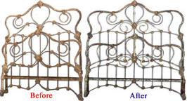 Old Iron Bed Before and After Image 3 (28697 bytes)