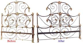 Antique Bed Frame Before and After Image 6 (34482 bytes)