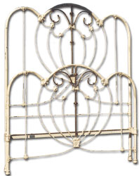 antique iron bed frame conversions