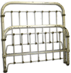 austere antique iron beds - Vintage Iron Bed Frames