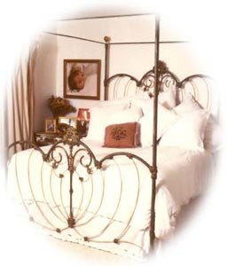 antique iron beds