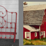 iron beds /Barn Red