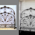 iron beds /Canopy Conversion