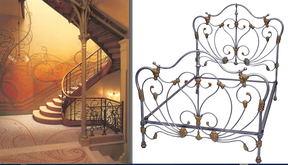 Home; Iron Beds /Art Nouveau