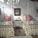 iron beds /Matching Twin Canopies