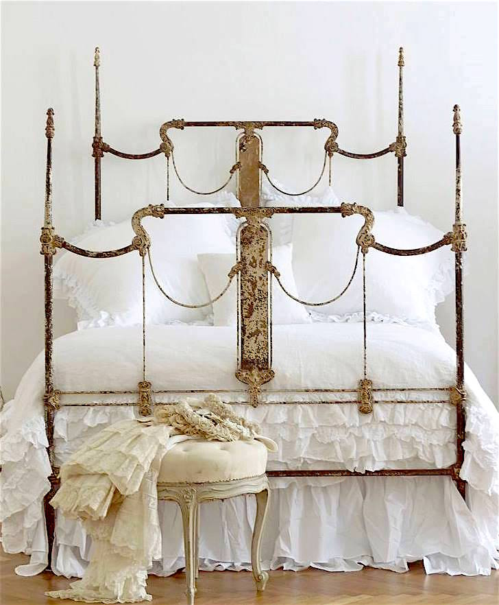 Iron Bed Frame | Vintage Bed Frame Designs | Cathouse Antique Iron Beds