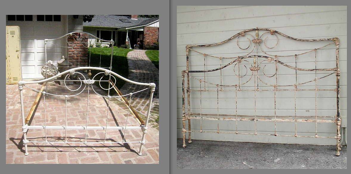 when converting an original old antique iron bed to a modern size one of the most important things to remember is to maintain the symmetry of that original - Vintage Iron Bed Frames