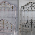 iron bed/twin w/ brass