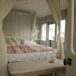 iron bed-Railroad Car Canopy Bed
