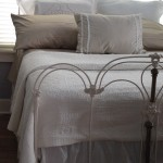 iron bed /white on white