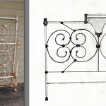 iron bed /King Sketch Bed #26