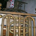 iron bed- brass