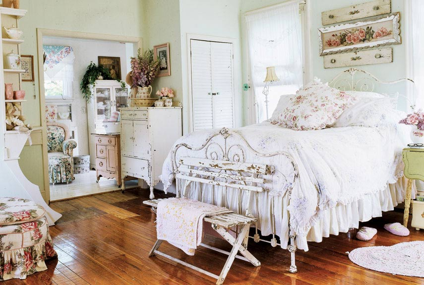 Antique iron beds - Dormitorios vintage chic ...