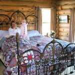 Log Home Bed