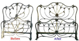 Antique Bed Before and After Image 2 (19794 bytes)