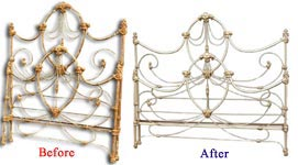 Antique Bed Before and After Image 5 (33146 bytes)