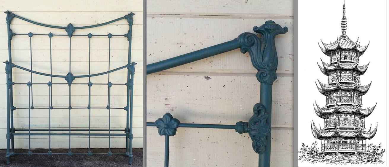 Reverse Arch Style Iron Bed