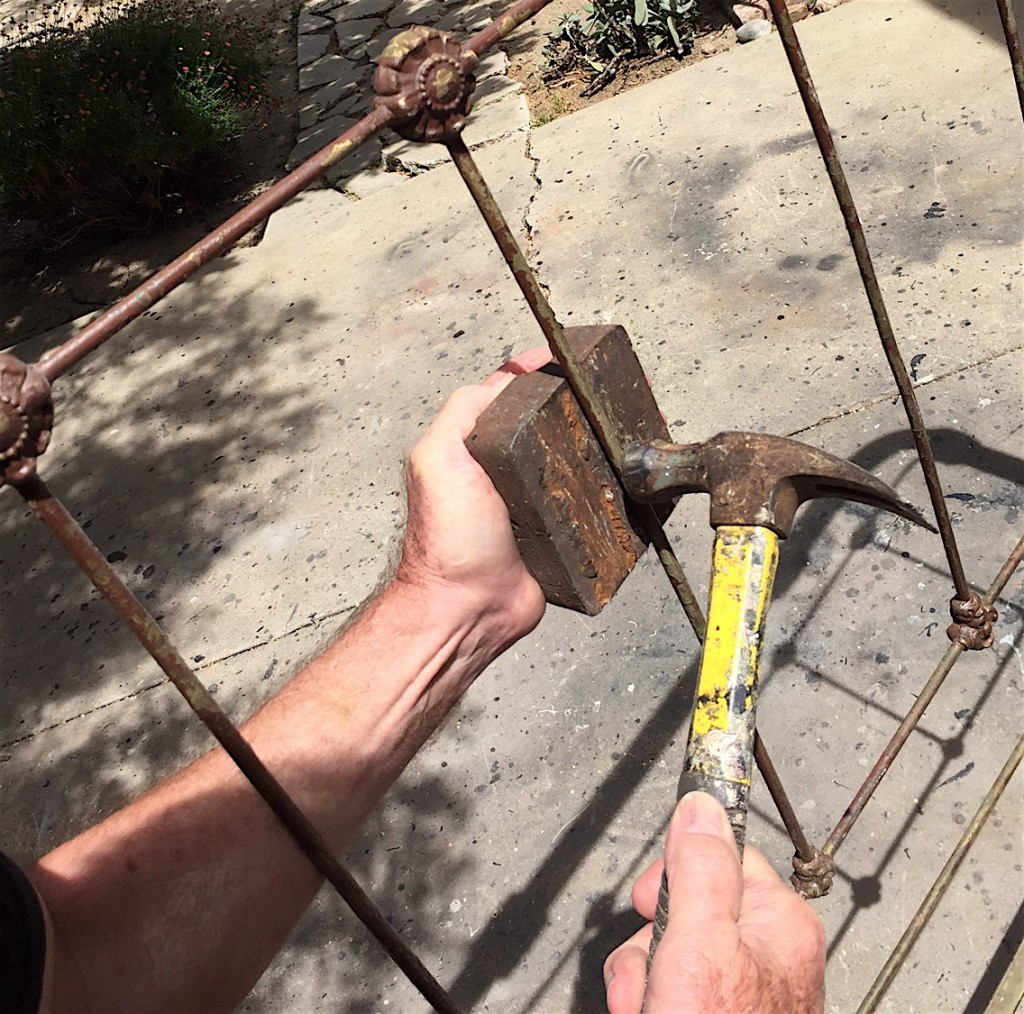 Fixing that bent old iron bed